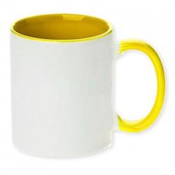 Hrnček dvojfarebný žltý
