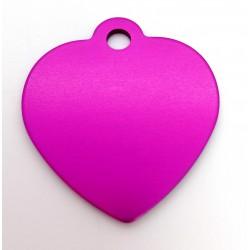 Srdiečko - neonovo ružové (MEDIUM)