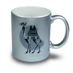 Hrnček strieborný -Ceramic mug - Silver