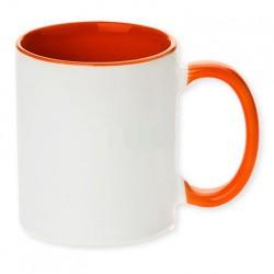 Hrnček dvojfarebný oranžový