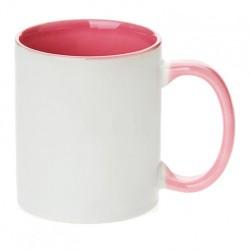 Hrnček dvojfarebný pastelový ružový