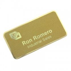 LaserFrost Name Plate NUS 246 - Gold (38x76 mm) štítky