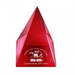 AUS 032 - Acrylic Pyramid red (89x89x108mm) - plaketa pyramída