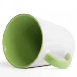 Hrnček dvojfarebný zelený svetlý