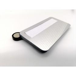 Magnetická menovka s priesvitným krytom - biela