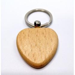 Kľúčenka drevená - srdce